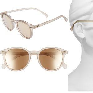 Le Specs 'bandwagon' mirrored sunglasses
